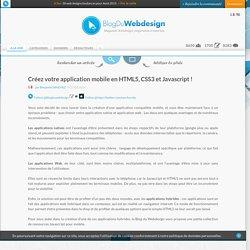 Créez votre application mobile en HTML5, CSS3 et Javascript