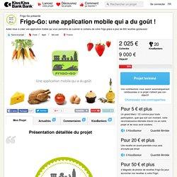 Frigo-Go: une application mobile qui a du goût ! présenté par Frigo-Go