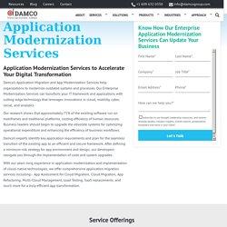 Application Modernization Services, Application Migration