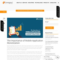 The Importance of Mobile Application Monetization -