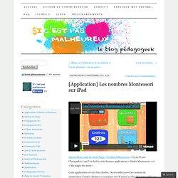 [Application] Les nombres Montessori sur iPad