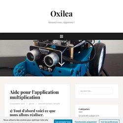 Aide pour l'application multiplication – Oxilea
