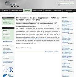 NANONORMA - MARS 2010 - EU – Lancement des plans d'application de REACH sur les nanomatériaux (RIP-oNs)