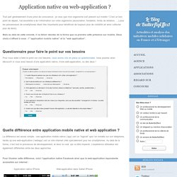 Application native ou web-application ?