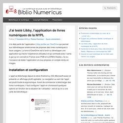 J'ai testé Libby, l'application de livres numériques de la NYPL - Biblio Numericus %