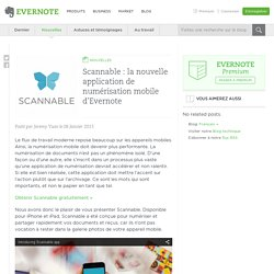 Scannable : la nouvelle application de numérisation mobile d'Evernote - Evernote en français