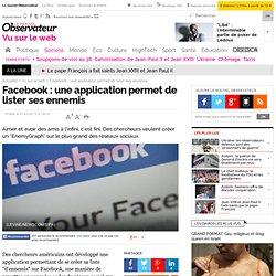 Facebook : une application permet de lister ses ennemis - Vu sur le web