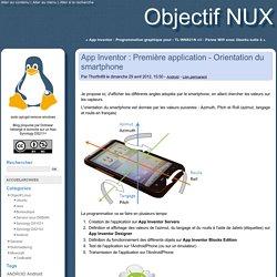 App Inventor : Première application - Orientation du smartphone - Objectif NUX