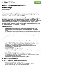 Job Application for Content Manager - Sponsored Partnerships at Khan Academy
