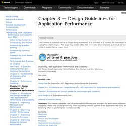 Chapter 3 - Design Guidelines for Application Performance