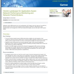Vendor Landscape for Application-Aware Network Performance Monitoring and Network Packet Brokers