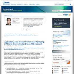 Application Aware Network Performance Monitoring (NPM) and Network Packet Broker (NPB) research