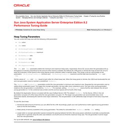 Heap Tuning Parameters (Sun Java System Application Server Enterprise Edition 8.2 Performance Tuning Guide)
