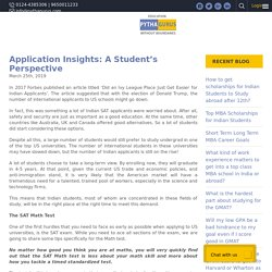 Application Insights: A Student's Perspective