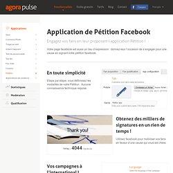 Application Pétition facebook