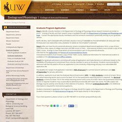 Graduate Program Zoology & Physiology