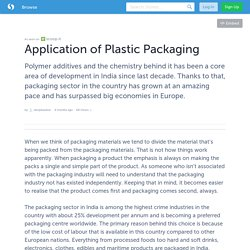 Application of Plastic Packaging