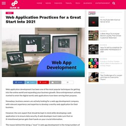Web Application Practices for a Great Start Into 2021 - Click42