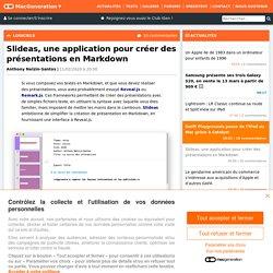 Slideas, une application pour créer des présentations en Markdown