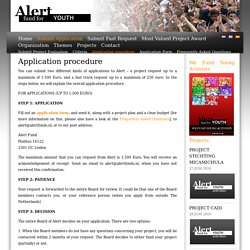 Application procedure - Alert