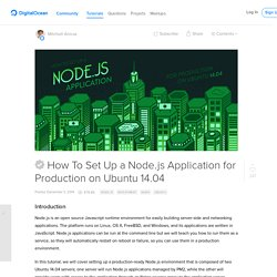 How To Set Up a Node.js Application for Production on Ubuntu 14.04
