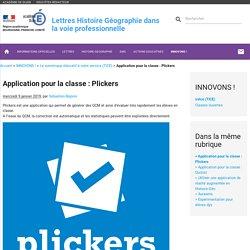 Application pour la classe : Plickers - Lettres Histoire Géographie dans la voie professionnelle