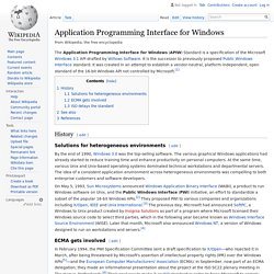 Application Programming Interface for Windows