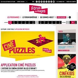 Application Ciné Puzzles - Jeune public