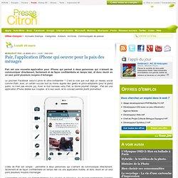 Pair, une application iPhone pour rapprocher les couples