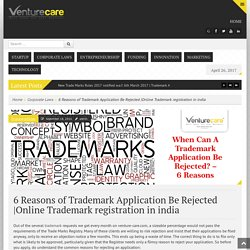 6 Reasons of Trademark Application Be Rejected