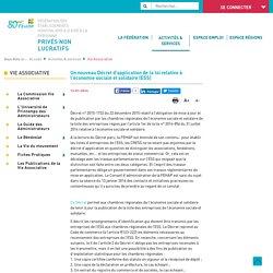 Un nouveau Décret d'application de la loi relative à l'économie sociale et solidaire (ESS)