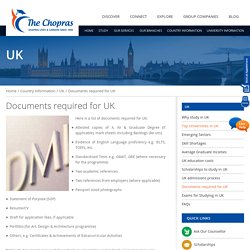 Documents Reguirement for Student Visa in UK- The Chopras