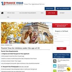 Get france visa appointment for tourist visa for children online