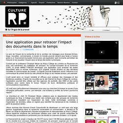 Une application pour retracer l'impact des documents dans le temps
