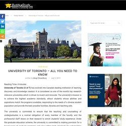 University of Toronto - Courses, Fees, Rankings, Application, Scholarships