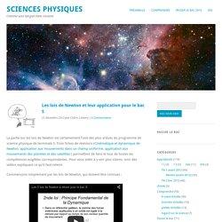 Les lois de Newton et leur application pour le bac S