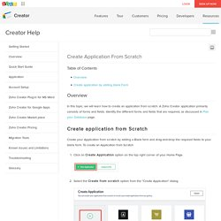 Create application from scratch