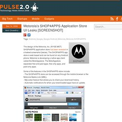 Motorola's SHOP4APPS Application Store UI Leaks [SCREENSHOT]