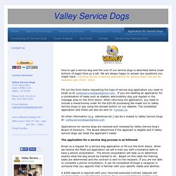 Application for Service dogs - Valley Dog Training