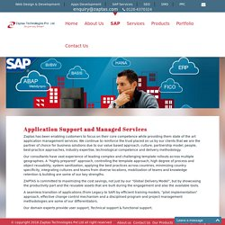 Application Support And Managed Services, SAP Software, ERP Software