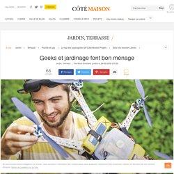 Jardinage avec outil connecté, application iPhone et smartphone