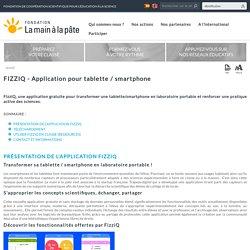 FIZZIQ - Application pour tablette / smartphone