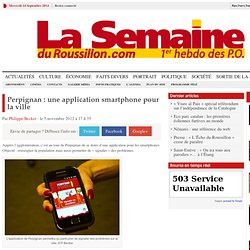 Perpignan : une application smartphone pour la ville