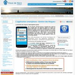 L'application smartphone «Gestion des Risques» / Prévention des risques / Sécurité & prévention