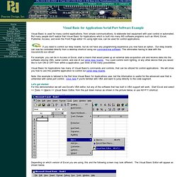 Pencom - Visual Basic for Application Serial Port Software Example