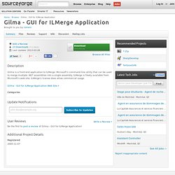 Gilma - GUI for ILMerge Application