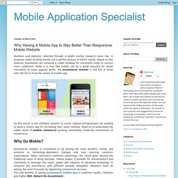 WHY HAVING A MOBILE APP IS WAY BETTER THAN RESPONSIVE MOBILE WEBSITE