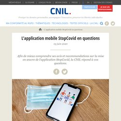 L'application mobile StopCovid en questions