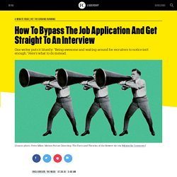 Wink marketing - How To Bypass The Job Application And Get Straight To An Interview