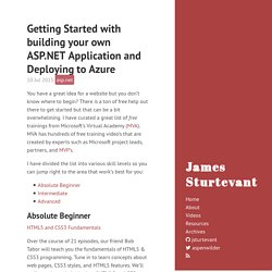 Getting Started with building your own ASP.NET Application and Deploying to Azure · James Sturtevant